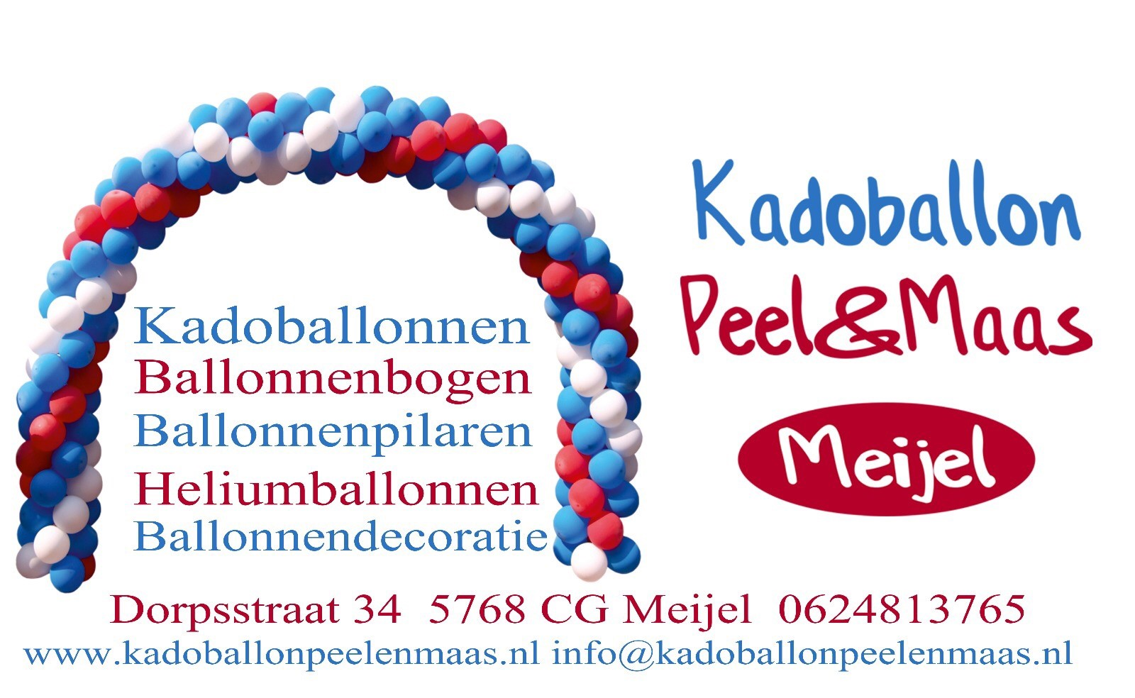 Kadoballon Peel en Maas